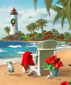 Sea Lighthouse Chair paint by numbers