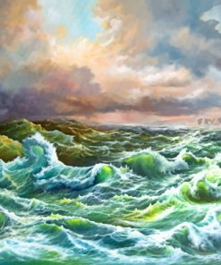 Sea Waves paint by numbers