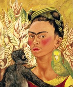 Self Portrait with Monkey and Parrot paint by numbers