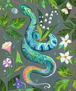 Snake Art paint by numbers
