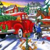 Snow Christmas Truck paint by numbers