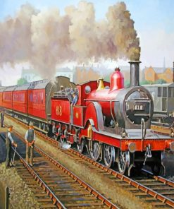 Steam Train Railway paint by numbers