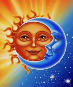 Sun And Moon Art paint by numbers
