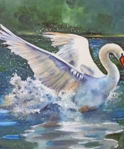 Swan Bird paint by numbers
