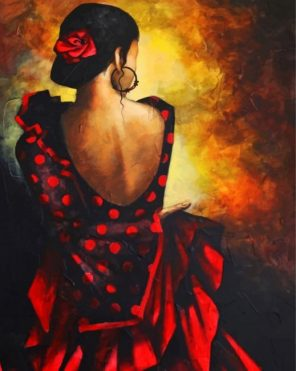 Tango Dancer paint by numbers