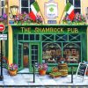 The Shamrock Pub Art paint by numbers