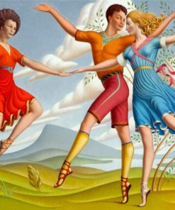 The Three Dancers paint by numbers