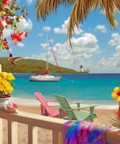 Tropical Paradise Paint by numbers