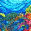 Turtles In coral Reef paint by numbers