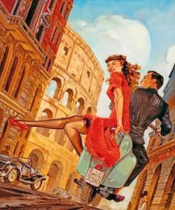 Vintage Couple In Rome paint by numbers