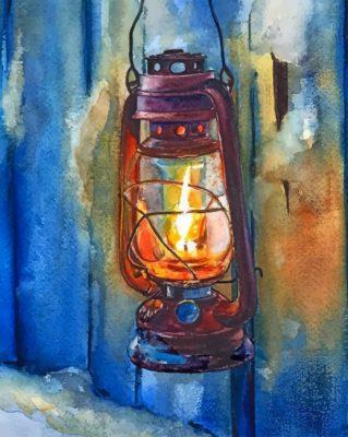 Vintage Lantern paint by numbers