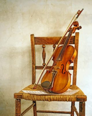 Violin On Chair paint by numbers
