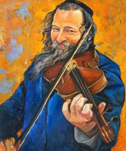 Violinist Man paint by numbers