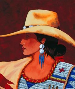 Western Cowgirl paint by numbers