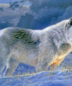 Winter Wolf paint by numbers
