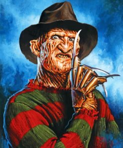 Scary Freddy Krueger Piant by numbers