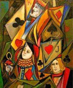 Abstract Poker Cards Paint by numbers