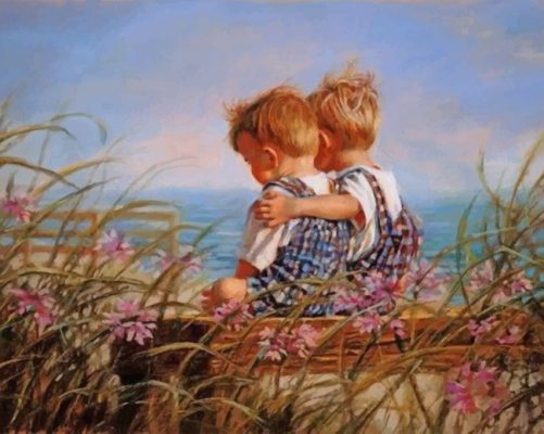 Adorable Brothers paint by numbers
