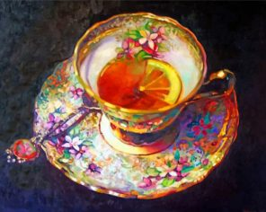 Aesthetic Floral Tea Set Paint by numbers