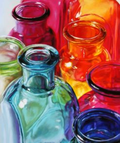 Aesthetic Colored Bottles paint by numbers