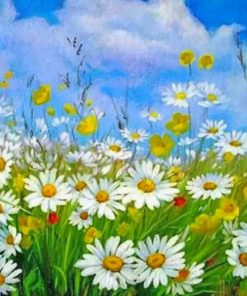 Aesthetic Daisy Field Paint by numbers