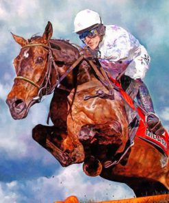 Aesthetic Horse Racing Paint by numbers
