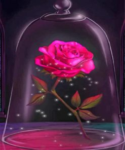 Aesthetic Pink Rose paint by numbers