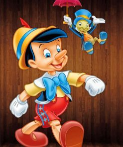 Aesthetic Pinocchio paint by numbers