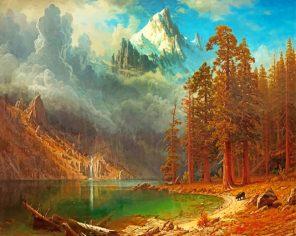 Albert Bierstadt paint by numbers