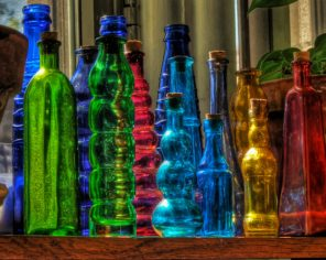 Artistic Colored Bottles ppaint by numbers