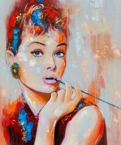audrey hepburn Art paint by number
