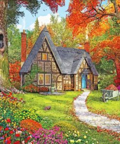 Autumn Cottage Paint by numbers