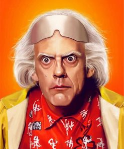 Dr Emmett Brown paint by numbers