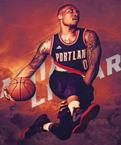 Damian Lillard Paint by numbers