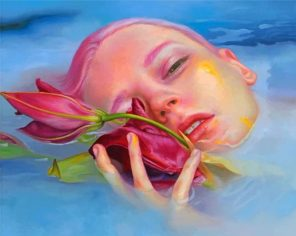Beautiful Ophelia In The Water paint by numbers