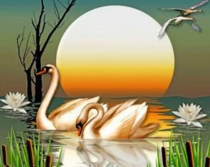 beautiful-swans-and-lotus-paint-by-number