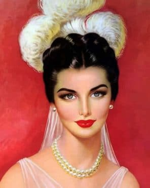 Beautiful Woman paint by numbers