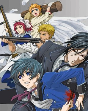 Black Butler Manga Paint by numbers