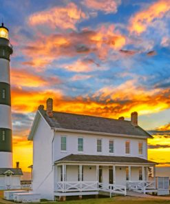 Bodie Island Lighthouse Paint by numbers