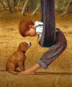 Boy And His Dog paint by numbers
