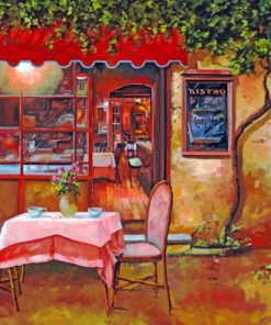 coffee shop artwork paint by numbers