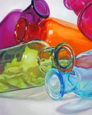 Colored Glass Bottles paint by numbers