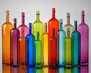 Colorful Bottles paint by numbers