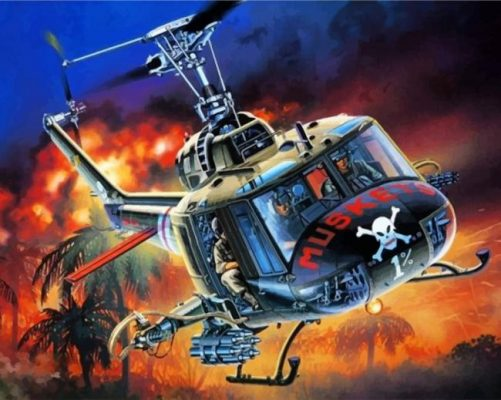 Dangerous Helicopters paint by numbers