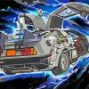 Delorean Car paint by numbers