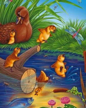 Duck Family paint by numbers