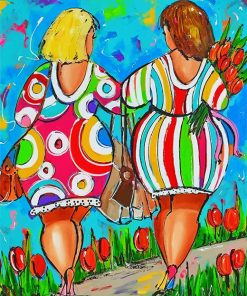 fat ladies paint by number