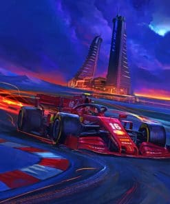 ferrari Car Racing paint by number