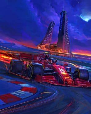 ferrari Car Racing paint by number
