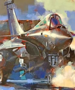 Fighter Jet Illustration Paint by numbers